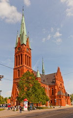 Saint Catherine church (1897) in Torun, Poland