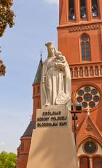 Statue of Saint Mary (1927) in Torun, Poland