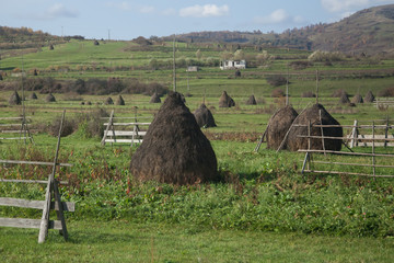 haystacks in the country