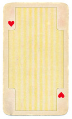 vintage playing card of hearts background