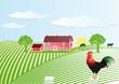 Bauernhof mit Hahn
