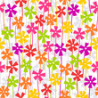 Seamless floral background with summer flowers