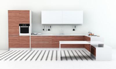 Moderne Küchenzeile in Küche