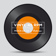 Vinyl record 45 RPM mock up
