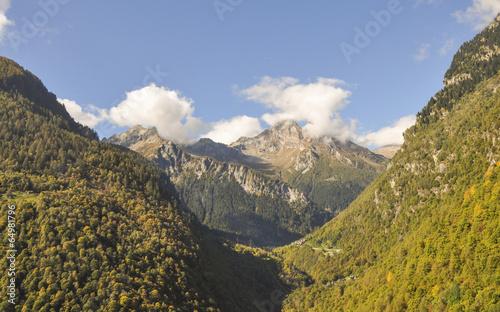 Fusio, Maggiatal, Maggia, Tal, Herbst, Tessin, Schweiz - 64981796