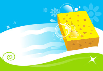 cleaning services sponge illustration