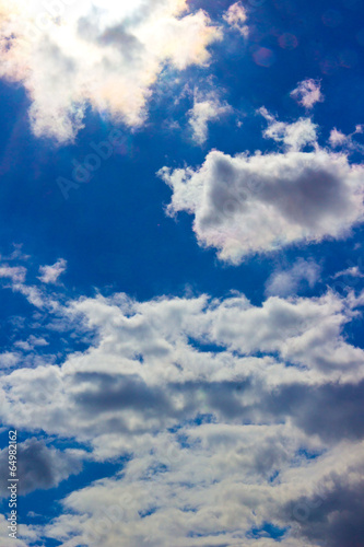 canvas print picture Himmel mit Wolken