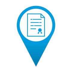 Icono localizacion simbolo certificacion