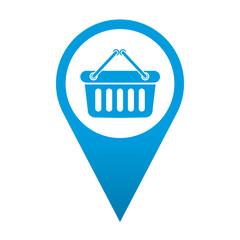 Icono localizacion simbolo cesta de la compra