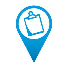 Icono localizacion simbolo clipboard