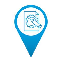 Icono localizacion simbolo ingenieria