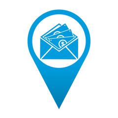 Icono localizacion simbolo envio de dinero