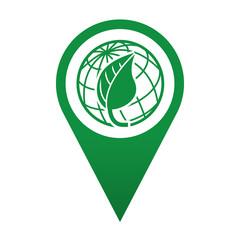 Icono localizacion simbolo planeta verde