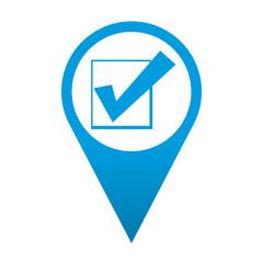 Icono localizacion simbolo casilla de verificacion