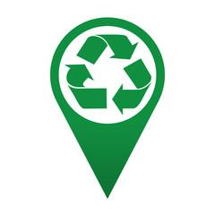 Icono localizacion simbolo punto limpio