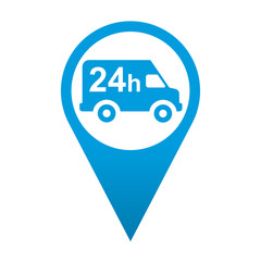 Icono localizacion simbolo reparto 24h