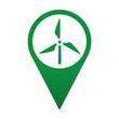Icono localizacion simbolo molino de viento