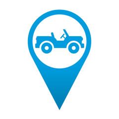 Icono localizacion simbolo vehiculo todoterreno