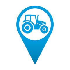 Icono localizacion simbolo tractor