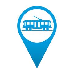 Icono localizacion simbolo tranvia