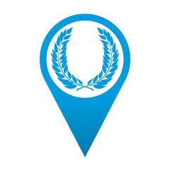 Icono localizacion simbolo corona de laurel