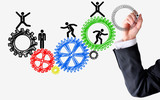 Human resources spinning wheels concept - 64982978