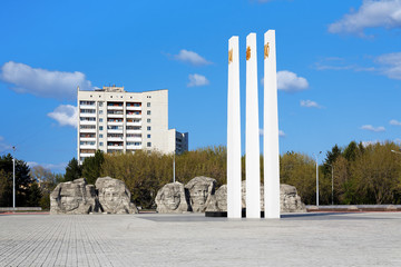 World War II Memorial in Komsomolsk-on-Amur, Russia