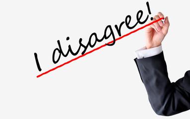 Business disagreement concept
