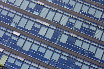 modern glass skyscrapers detail