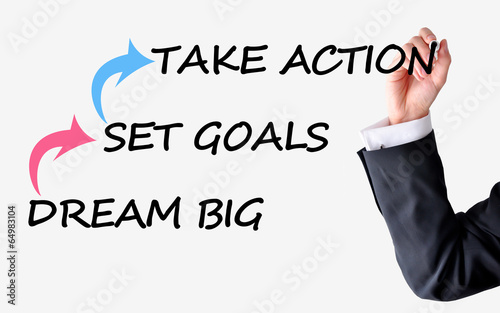 Dream big set goals take action advice