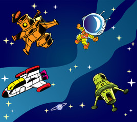 cartoon spaceships