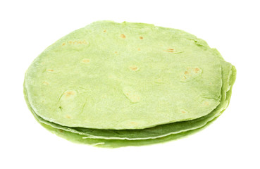 Spinach Tortillas Side View