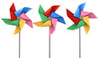 Colorful Pinwheels Isolated - 64983785
