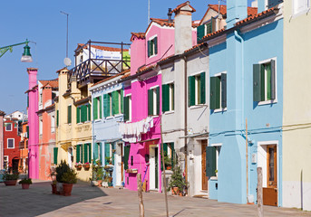 Venice - Houses and ailse from Burano island