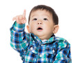 Child pointing up