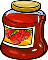 jam in jar cartoon illustration