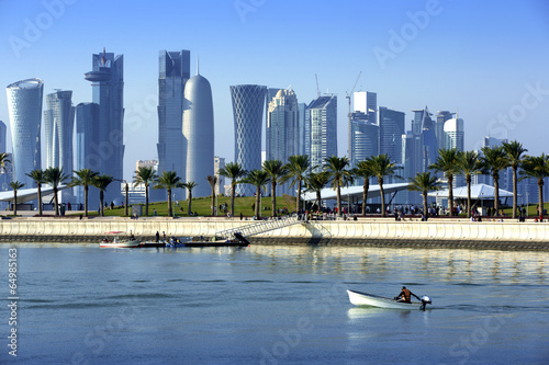 Papiers peints Ville sur l eau Skyline of the Doha