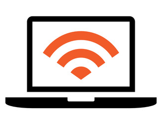 Laptop with Wifi icon