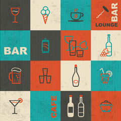 Retro bar icons