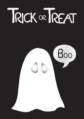 Treat or Trick Halloween Ghost