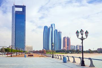 Cityscape of Abu Dhabi, the capital of United Arab Emirates