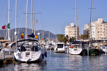 Boats at Empuriabravia in Spain