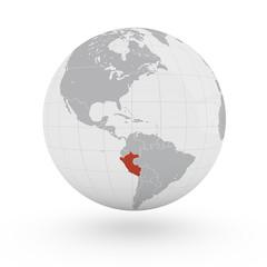 Mappamondo America, Peru