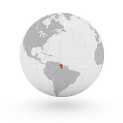 Mappamondo America, Guyana