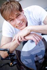 Motorcyclist biker
