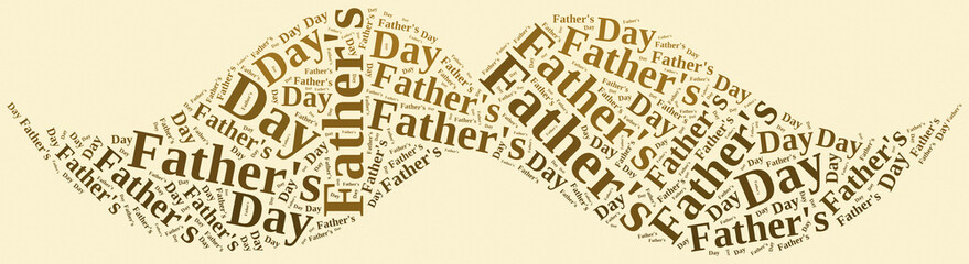 Tag or word cloud Father's Day related