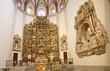 Madrid - Presbytery and renaissance altar of Capilla del Obispo