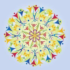 Mandala Icones Corps / Silhouettes / Figures