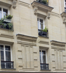 paris building with windows