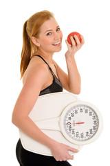 Idealgewicht mit Sport und gesunder Ernährung